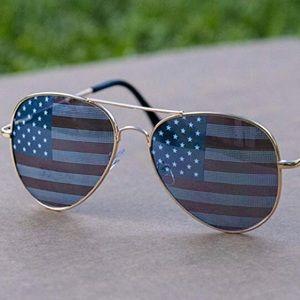 4th of July Patriotic Flag Sunglasses